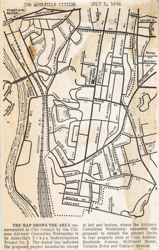 East Riverside Urban Renewal map