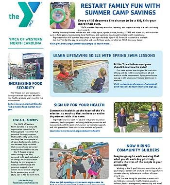 YMCA News: April 2021