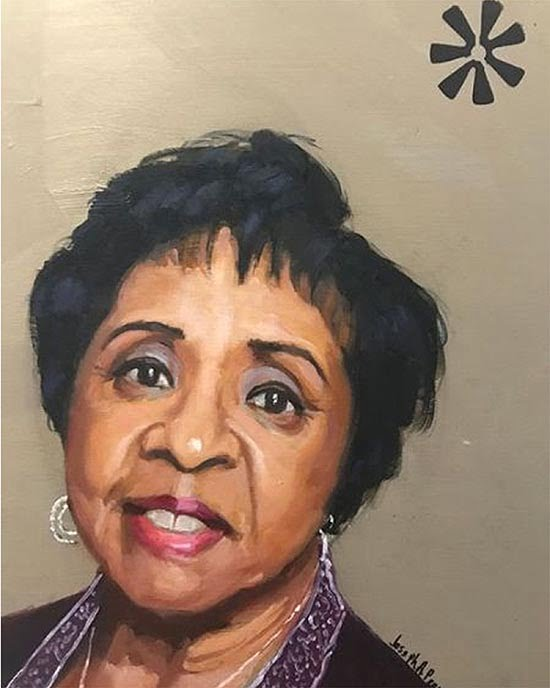 Painting of Shirley Whitesides by Joseph Pearson