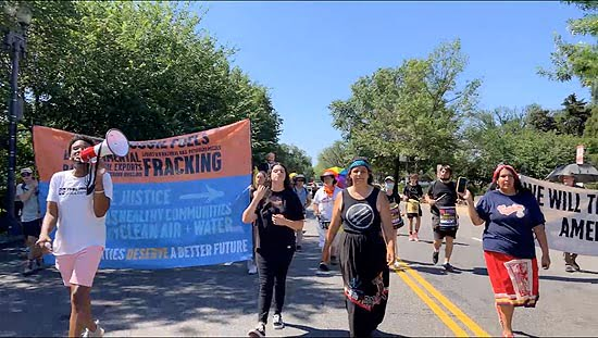 Indigenous, Climate & Racial Justice Activists Protest at White House