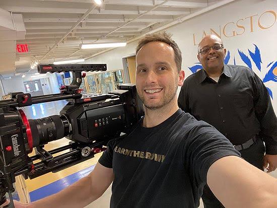 Filmmaker Josh Mancuso and Adam Dickson, producer of The Black Appalachian.