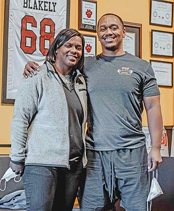 Jonathan Blakely, Jr. and his sister Mia Simpson are co-owners of Potential Sports and Fitness.