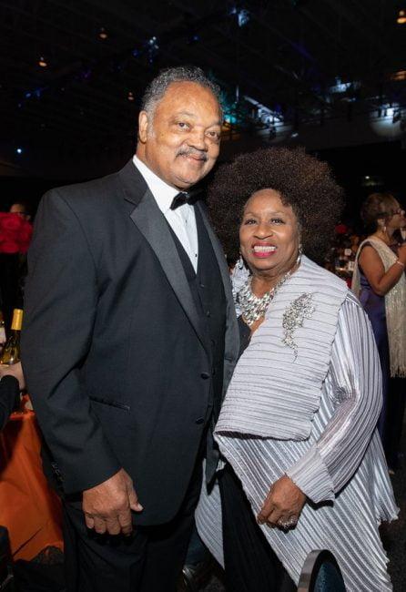 Rev. Jesse Jackson and his wife, Jacqueline Jackson
