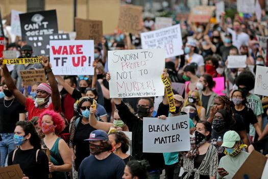 Protesters in Boston.