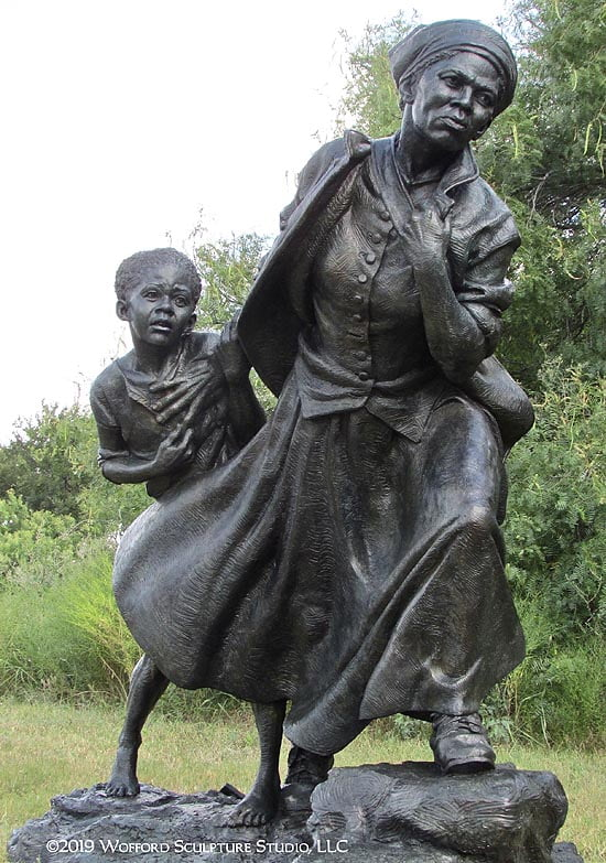 Wesley Wofford of Cashiers designed the sculpture to honor Harriet Tubman.
