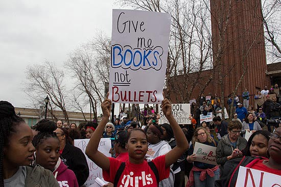 Students gathered in Memphis to protest gun violence.